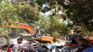 CIDCO demolishes illegal structures at Turbhe and Kopri