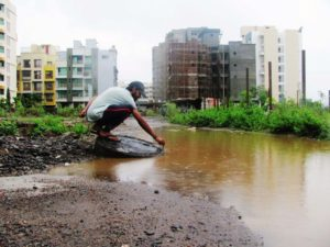 Navi Mumbai Lifestyles Ulwe Monsoon Deluge due to CIDCO the Green Society Forum demarking Open Drains 01