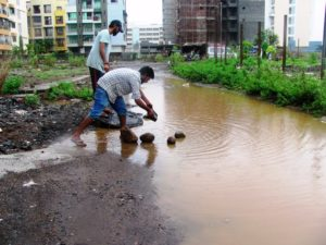 Navi Mumbai Lifestyles Ulwe Monsoon Deluge due to CIDCO the Green Society Forum demarking Open Drains 03 a