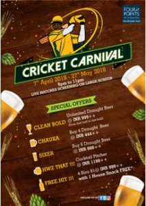 CRICKET CARNIVAL AT TIPPLERS BAR, FOUR POINTS BY SHERATON